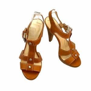 Coach Light Brown Leather Sandals